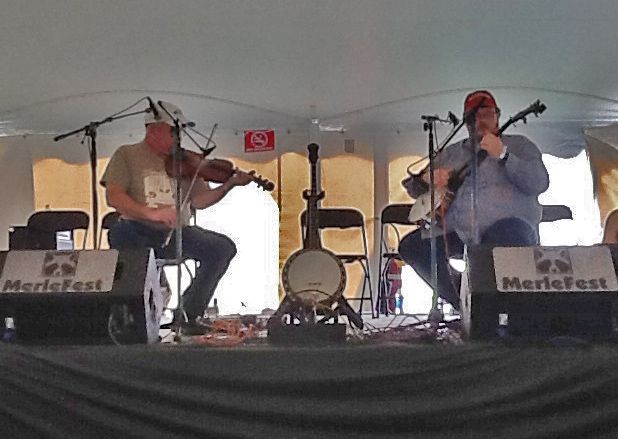 Kirk Sutphin and Riley Baugus at Merlefest 2013