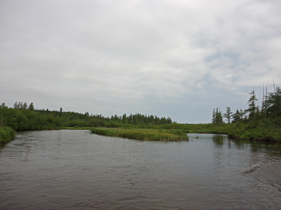 Indian River at the downstream end of the prime trout water
