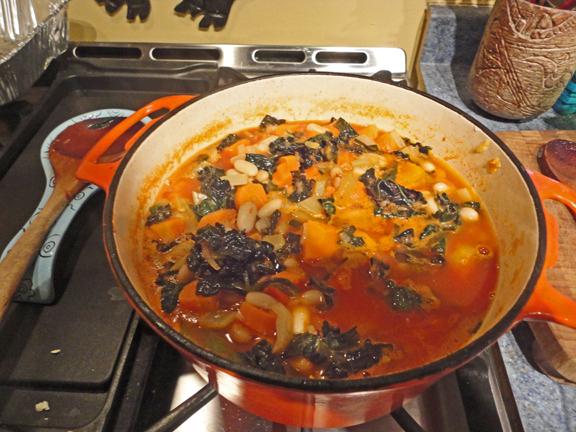 White bean stew withkale