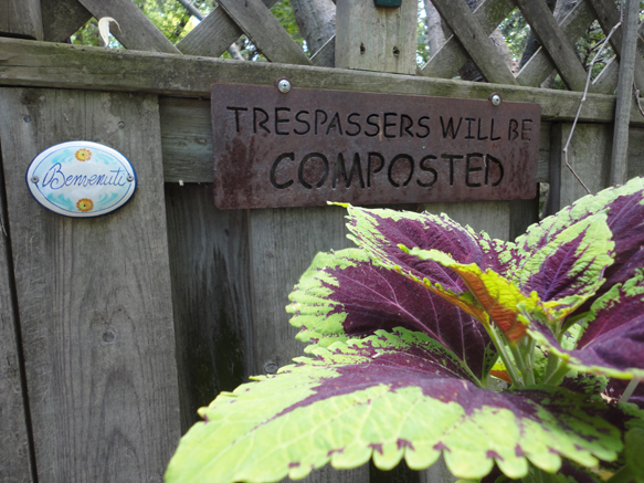 What signs are in your garden?