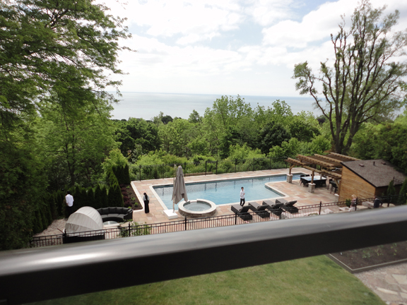 Like square pools? Saw some of those today too on the 2nd Annual Gates Open Home & Garden Tour. I took this shot from a top terrace of this family home.  Thank you families for opening your homes in support of the hospital today!