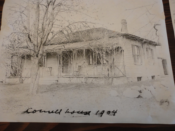 Here's what the Cornell farmhouse looked like from an early 1900's photo. The family owned extensive land across what is now Kingston Road down to Lake Ontario.