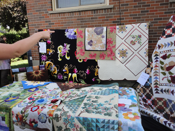 Quilts were also featured for sale in one of the gardens that took part in the 15th Annual Artists in the Garden Tour - Oshawa/Whitby June 21, 2014.