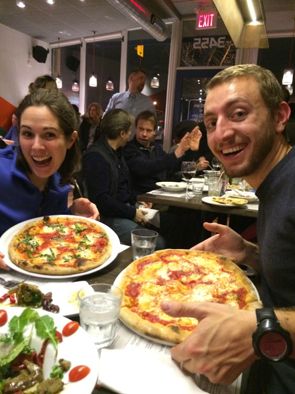 Marianne, Steve and some excellent Za