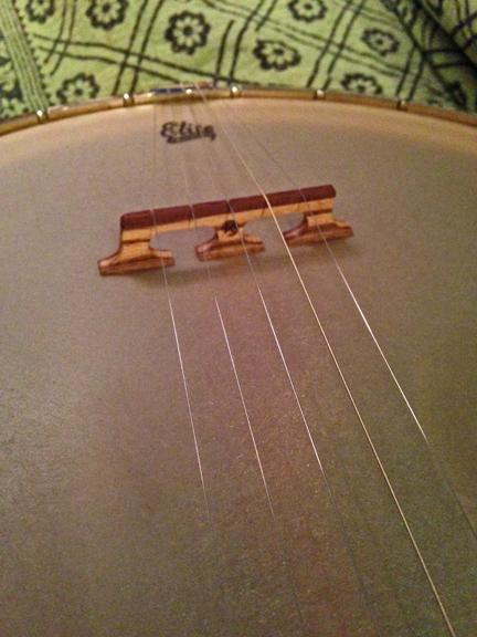 Zebra/katalox banjo bridge