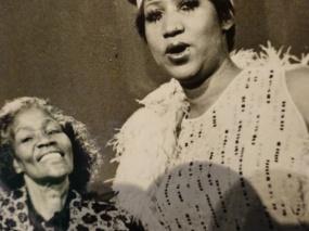Sister Rosetta and Aretha faces
