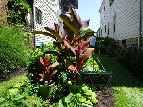 A side garden calling out to enter! Sunday July 26th in Buffalo