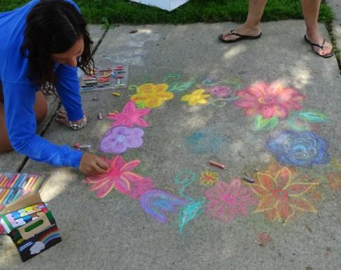 Garden Walk Sidewalk Art July 25
