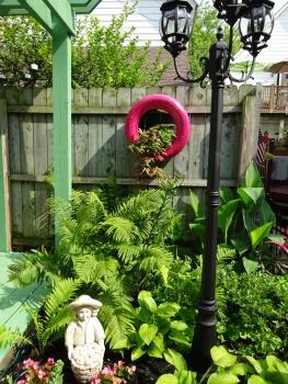 Pink Tire Planter Buffalo Cottage Garden