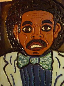 Johnnie Taylor carved wood face