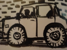 Anthony Stagg's Car face