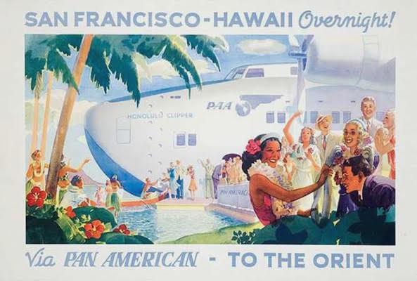 One of the most rare: Pan Am San Francisco Hawaii Overnight c. 1938 Frank McIntosh 27