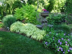 Bright Green spot in Garden
