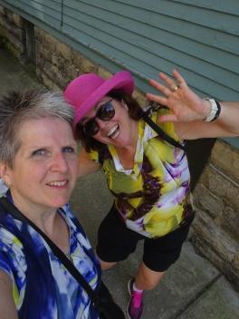 Sheila and Viv side of Buffalo house